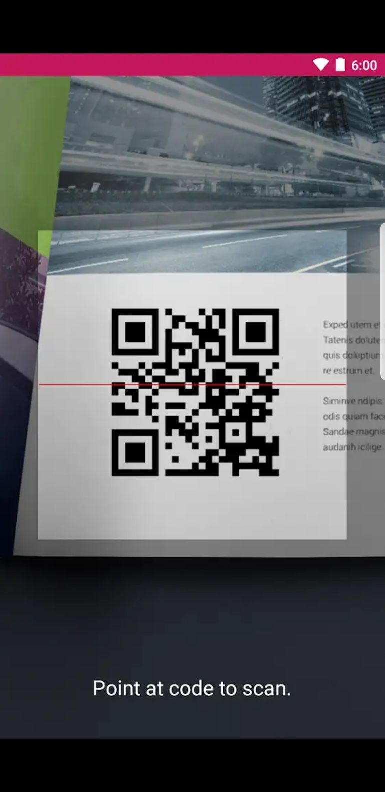 QR scanner in built to this app