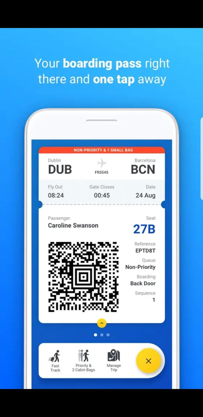 keep your boarding passes on your phone with ryanair bubble
