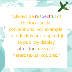 top tip: always be respectful in public LGBTQ or Heterosexual
