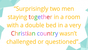 surprisingly two men staying together in a room wasn't challenged