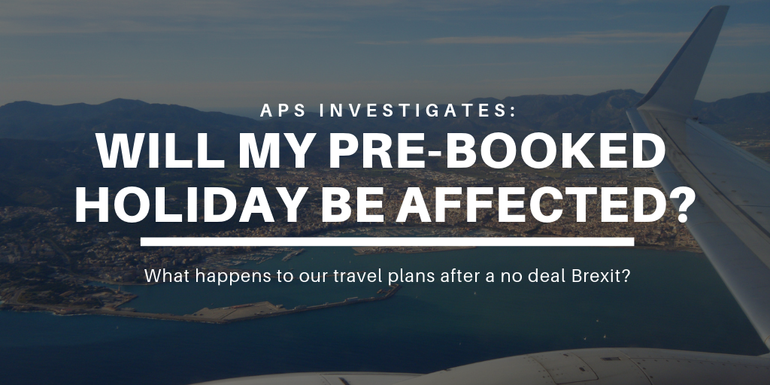 Will my prebooked holiday be affected by Brexit?