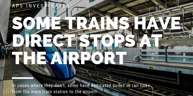 Check to see if your train has a direct stop at the airport