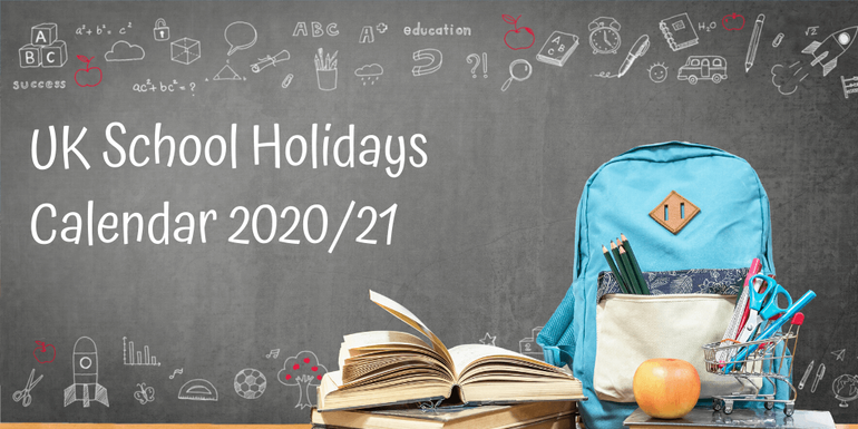 UK School Holidays Calendar 2020/21