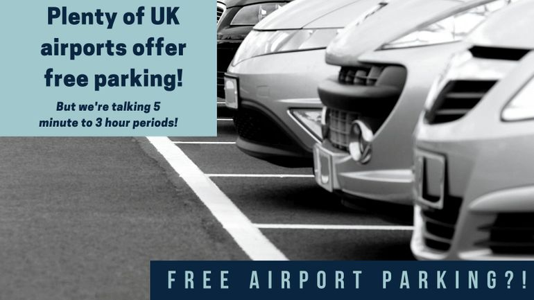 Which airports have free car parking?
