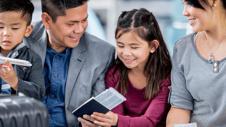 children with passport