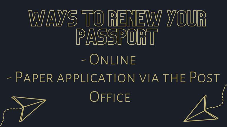 ways of renewing passport